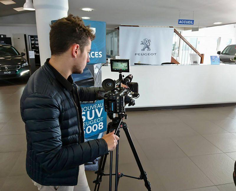 Léo Pons tournage de publicité dans le Cantal